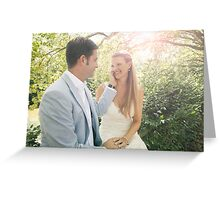 Groom Caressing Bride Greeting Card
