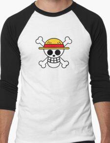 One Piece Cool Skull Men's Baseball ¾ T-Shirt