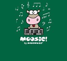 Moosic - Fun Cow playing piano Unisex T-Shirt