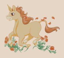 California Poppy Unicorn by Veronica Guzzardi