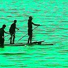 Three On a Green Sea  by Heather Friedman