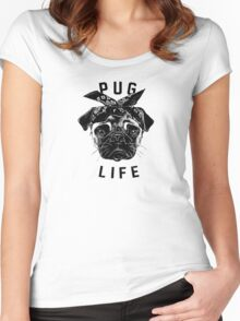 Pug Life  humor Funny Geek Geeks Women's Fitted Scoop T-Shirt