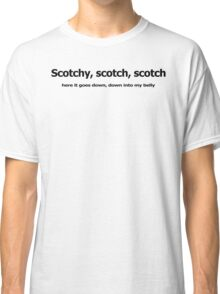 SCOTCH funny anchorman beer college Classic T-Shirt