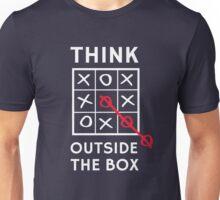 Think Outside the Box (Tic Tac Toe) Unisex T-Shirt