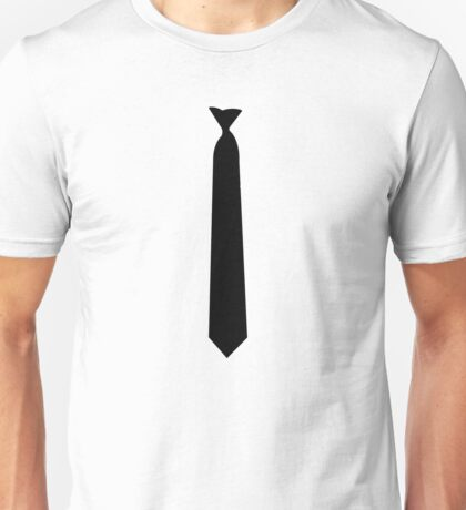 Skinny White Tie Hipster Cool School Funny Awesome Geek Unisex T-Shirt
