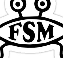 SPAGETTI MONSTER funny atheist pastafarian Sticker