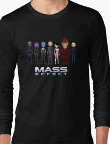 Mass Effect Cartoon - JohnShepard Long Sleeve T-Shirt