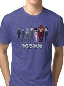 Mass Effect Cartoon - JohnShepard Tri-blend T-Shirt