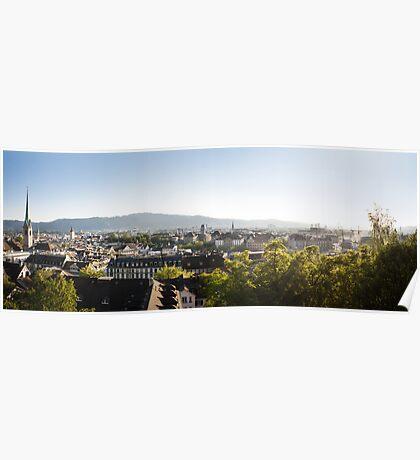 City of Zurich (Zürich) Poster