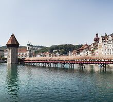 Chapel Bridge in Lucerne (Luzern), Switzerland by visualspectrum