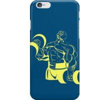 Reg power blue iPhone Case/Skin
