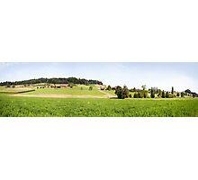 Green Swiss Farmland Photographic Print