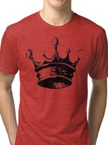 Black and White Crown Tri-blend T-Shirt