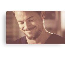 Mark Sloan smiling Canvas Print