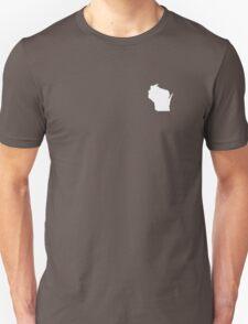 Wisconsin Over Heart Unisex T-Shirt