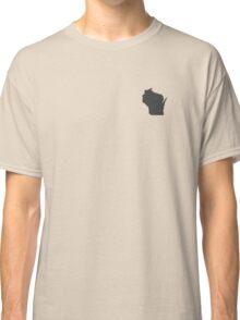 Wisconsin Over Heart Classic T-Shirt