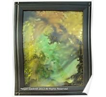 Earthy Abstract Watercolor Painting Poster