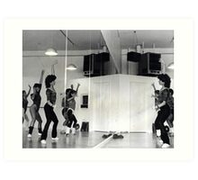 Reflection of Aerobics Class In The Mirror Art Print