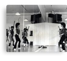 Reflection of Aerobics Class In The Mirror Canvas Print