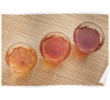 Three Glasses of Tea Poster