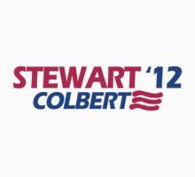 STEWART COLBERT 12 jon stephen president funny 2012 by porsandi