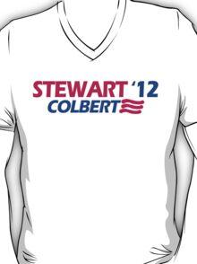 STEWART COLBERT 12 jon stephen president funny 2012 T-Shirt