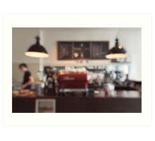 Coffee Shop Bokeh Art Print