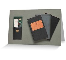 Old-fashioned Notebooks & Drawing Utensils Greeting Card