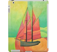Cubist Abstract Sailing Boat iPad Case/Skin