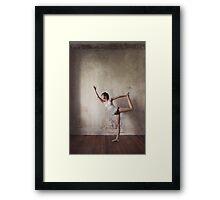 Yoga: Woman Performing Natarajasana Framed Print