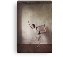 Yoga: Woman Performing Natarajasana Canvas Print