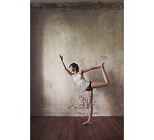 Yoga: Woman Performing Natarajasana Photographic Print