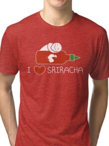 Sriracha Hot Sauce T-Shirt Tee  Tri-blend T-Shirt