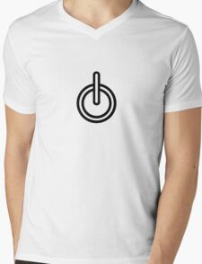 TURN ON funny xbox ps3 nerdy geeky tech awesome cod halo Mens V-Neck T-Shirt