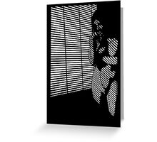 """She Does All The Work"" Blinded Noir Nude Greeting Card"