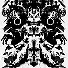 Fox McCloud Star Fox Inspired Geek Psychological Inkblot by barrettbiggers