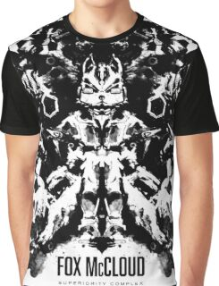 Fox McCloud Star Fox Inspired Geek Psychological Inkblot Graphic T-Shirt