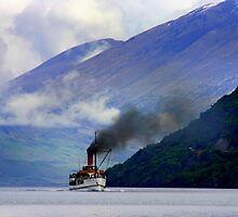 Steamship on the Lake by jwwallace