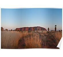 Uluru at Sunrise Poster