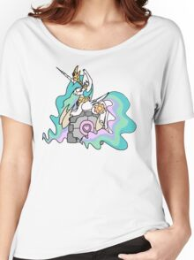 Celestia and her companion cube Women's Relaxed Fit T-Shirt