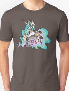 Celestia and her companion cube Unisex T-Shirt