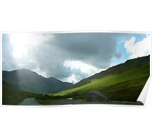 Kirkstone Pass, Ullswater, Panorama 2  Poster