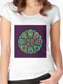 Rose Window of Healing Women's Fitted Scoop T-Shirt