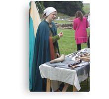 Medieval Stall holder Canvas Print