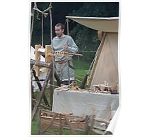 Medieval Stall Holder Poster