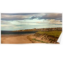 LOSSIEMOUTH - WEST BEACH IN AUTUMN Poster