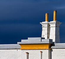 COVESEA LIGHTHOUSE - CHMINEYS ABOVE THE DOOR by JASPERIMAGE