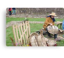 Medieval Basker Weaver Canvas Print