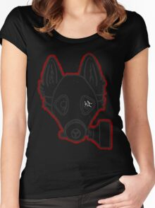 Gas Mask Wolf Broken Women's Fitted Scoop T-Shirt