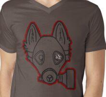 Gas Mask Wolf Broken Mens V-Neck T-Shirt
